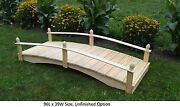 Amish-made Weight-bearing Pine Acorn Bridge - Bridges In 8 Sizes And 10 Colors