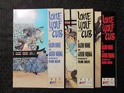 1987 Lone Wolf And Cub 1 3 4 Lot Of 3 Nm 1st First Sc Frank Miller