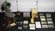 Early 20th Century Stereopticon 14pc Lot Stereo-tach Stereoscope Keystone Viewer