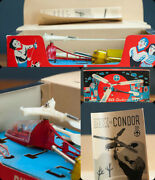 Antique Tin Toy Working Boxed Dux Condor Helicopter Unused And Rare Germany