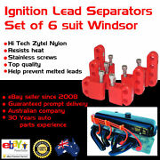 Red Ignition Lead Separators Brackets Mounts Stainless Screws Fits Ford Windsor