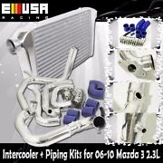 Intercooler+piping Kits For 06-09 Mazda 3 Hatchback 4d2.3l Mazdaspeed 3