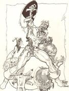 Zombie Captain America And Hydra Commission After Jim Steranko 2007 By Tom Burgos