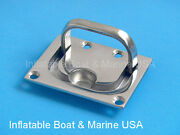 2 Each - Boat Hatch Cabinet Lift / Pull Ring Handle - 3 Marine Stainless Steel