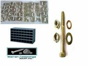 7350pc Gr 8 Fine Thread Bolt Flat And Lock Washer Nut And Lock Nut Kit With Bin