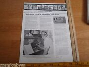 Disney Newsreel Wed Mapo Employees Mag 1983 Graphics Department Wagons West Adv