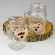 Rustic 6cm Wooden Heart Wedding Place Names. Table Decorations Engraved Nameandnbsptag