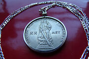 1965 Ussr Wwii Cccp Russian Victory Rouble Pendant On A 30 925 Silver Chain