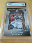 John Wall Wizards 2015 Prizm Fireworks 23 Graded 10 L@@@k