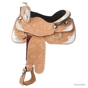 Western Silver Show Saddle Pkg- Light Oil Leather -141516 Christmas Special