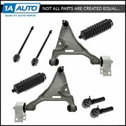 8 Piece Steering And Suspension Kit Control Arms Inner Outer Tie Rods W/ Boots