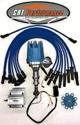 Ford 351c-351m-400m-429-460 Pro Series Hei Distributor Blue + 60k Coil + Wires