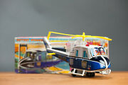 Antique Tin Toy Tn Nomura Japanese Japan Police Helicopter Working And Boxed