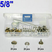 Boat Cover/canopy Fittings Snap Fastener Stainless Canvas To 5/8screw Kit Tools