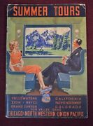 Summer Tours Chicago North Western Union Pacific Railway Trains Railroad 1939