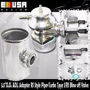 3.5o.d. Adj. Adapter Rs Style Pipe+turbo Tpye S/rs Blow Off Valve Bov Combo