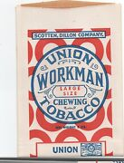 1920s Free Sample Pouch Of Union Workman Tobacco Nos