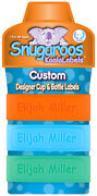 Pack Of 3 Personalized Daycare Labels For Baby Bottles And Sippy Cups