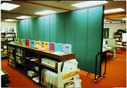 Screenflex 6'8 Tall 3-13 Panels Rolling Folding Room Partitions Free Shipping