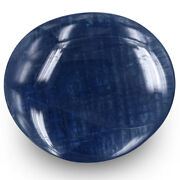 Gia Certified Burma Blue Sapphire 34.32 Cts Natural Untreated Dark Blue Oval
