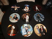 9 Elvis Presley Plates By Delphi - With Coas And Boxes