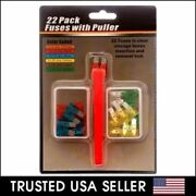 22pk Auto Fuses Fuse Puller Insertion And Removal Tool And Storage Box Boxes Auto