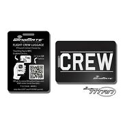 Smart Nfc Luggage Tag With Geolocation Web App Crew Gear. Pilot Supplies.