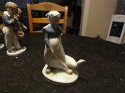 Royal Copenhagen  Girl With Goose  528 Figurine -- Absolutely Beautiful