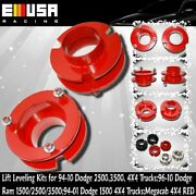 Front 2suspension Leveling Lift Kit For94-13dodge Ram 1500/2500/3500 4x4 Red