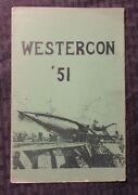 1951 Westercon And03951 Science Fiction Convention Program Vg 8pgs Fanzine