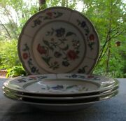 Four Heinrich Villeroy And Boch Indian Summer Flat Rimmed Soup Bowls Germany Mint