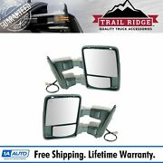 Trail Ridge Towing Mirror Power Folding Extend Heat Signal Smooth Pair For Ford