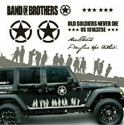 Graphic Band Of Brothers Car Sticker Us Army Side Skirt Decal For Jeep Wrangler