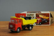 Antique Tin Toy Battery Operated Dump Truck Plastic Car Hong Kong Old