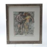 Herman Lipot Hungarian, 1884-1972 Nude Composition, Study Drawing Signed