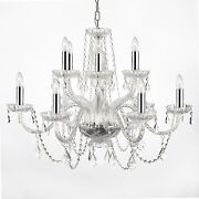 Empress Crystal Tm Chandelier Lighting With Chrome Sleeves H27 W32
