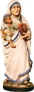 Statue Mother Therese Of Calcutta 2362 Woodcarving Madre Teresa In Legno Cm.60