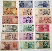 Israel Lot Of 18 Different Banknotes Pound Lira And Sheqel 1958-1986