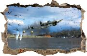 Wall Stickers Hole In The Wall Fighter War Landing Troops Sticker Decor Mural 24