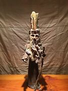 *RARE* Wizard Sorcerer ART POTTERY 1970s Candle Holder Crown