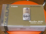 New Canon Powershot Sd30 5mp Digital Elph Camera Deluxe Kit W/case Glamour Gold