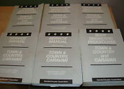 2006 Chrysler Town And Country Dodge Caravan Service Manual + Procedures 6 Books