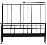 Hand Crafted Black Iron Bed King Frame 78 X 92 X 59 573016-dni