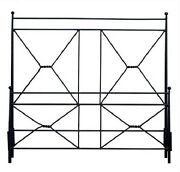 62 X 82 X 59 Forged Iron Hand Made Double X Bed Queen 673016-dni