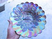 Northwood Peacock At The Urn Chop Plate - Nice Example
