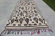 Vintage Moroccan Beni Ourain Large Rug Hz9 12and0397 X 5and0391 Handwoven 100 Wool