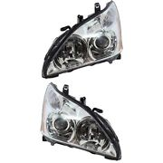 Hid Xenon Headlights Headlamps Left And Right Pair Set For 04-06 Lexus Rx330