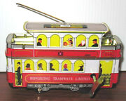 Vintage Tin Litho Cable Car Tram Wind Up Toy Mint Old Shackman Company Toy