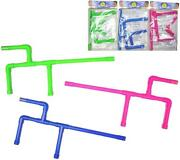 3 Neon Pink Blue And Green Color Marshmallow Gun Shooters 22in Long Boys Play Toys