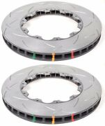 Dba Front Slotted Brake Rotors T3 5000 For 2009-2011 Nissan Gt-r Gtr 380x34mm